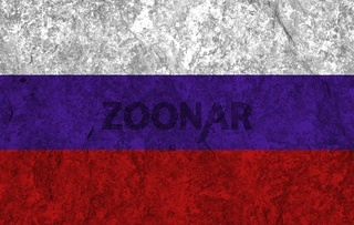 russia flag with texture on background
