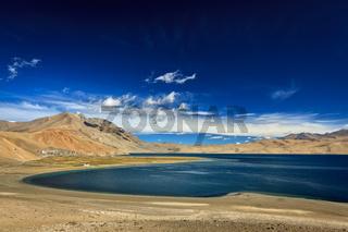 Lake Tso Moriri in Himalayas, Ladakh