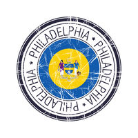 City of Philadelphia, Pennsylvania vector stamp