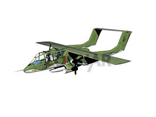 militär Flugzeug am Himmel