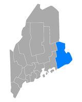 Karte von Washington in Maine - Map of Washington in Maine