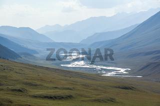 Chong-Kemin river in Kyrgyzstan