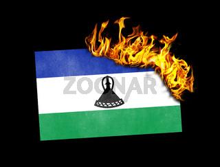 Flag burning - Lesotho