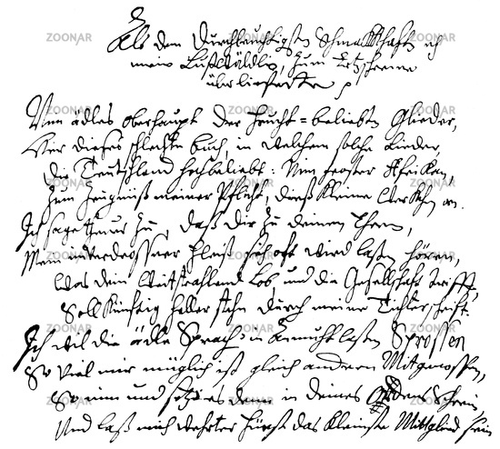 A poem by Georg Neumark, 1621 - 1681, a German poet and composer
