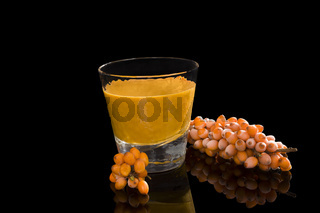 Sea buckthorn juice.
