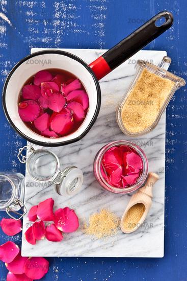 Homemade rose jelly