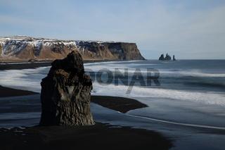 Reynisfjara beach in iceland close to Vik Iceland