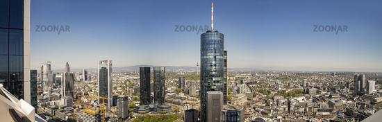 View of Frankfurt and Taunus