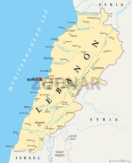 Libanon Landkarte