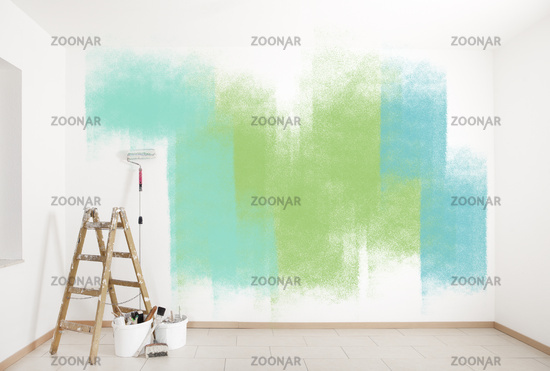 painting accessories colorful wall