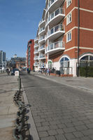 Cyclists on the Ipswich Quay