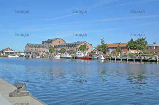Harbor of Heiligenhafen,baltic Sea,Germany