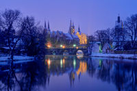 Merseburg Cathedral and Palace at wintertime