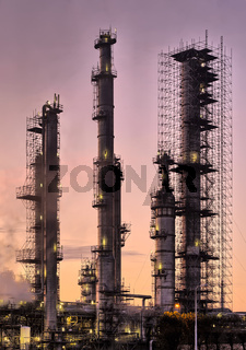 Industrial refinery, early morning
