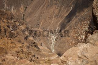 View into Colca canyon, Arequipa, Peru.