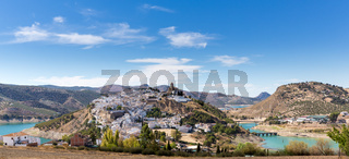 Hilltop town of Iznajar in Andalucia
