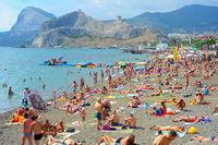 Sudak beach, Crimea
