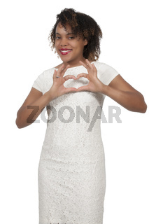 Woman Making Heart Sign