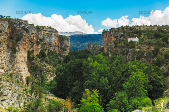 Canyon at Alhama de Granada at summertime, Andalusia, Spain