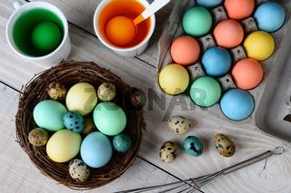 Dying Easter Eggs Horizontal