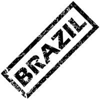 BRAZIL rubber stamp