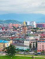 Top view of Batumi, Georgia