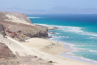 Mal Nombre beach on the south east coast of Fuerte