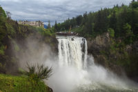 Snoqualmie Falls famous waterfall in Washington USA