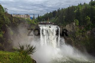 Snoqualmie Falls famous waterfall in Washington USA