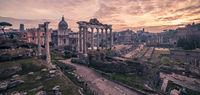 Rome, Italy: The Roman Forum in sunrise