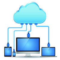 Electronic device connected to the cloud computing
