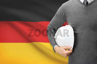 Architect with flag on background  - Germany