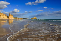 Beach on the Algarve near Portimao in Portugal