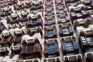 Hausfassade von Hochhaus
