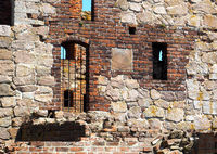 Wall of the Hammershus ruin