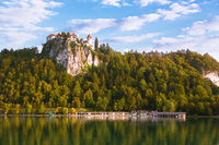 Bled Castle with Lake Bled, Slovenia