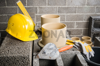 Parts and tools for the construction of modular ceramic chimney in the house