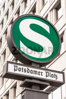S-Bahn-Station Potsdamer Platz in Berlin