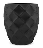 black ceramic vase isolated on white background