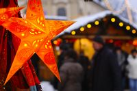 Christmas star on a Christmas Market
