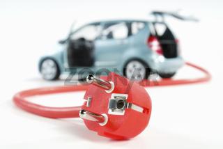 Auto mit Kabel und Stecker