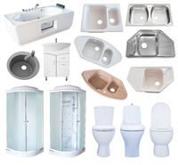 set of bathroom equipment, isolated