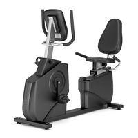 stationary exercise horizontal bike isolated
