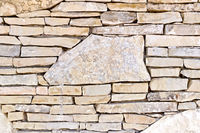 Wall from different stones