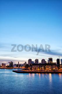 Rotterdam Skyline at Twilight