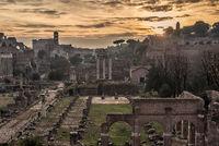 Rome, Italy: The Roman Forum in the sunrise