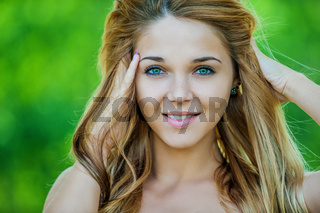 beautiful smiling young woman