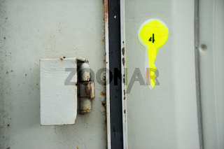 Spundwand im Waltershofer Containerhafen, Hamburg