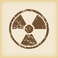Grungy hazard icon