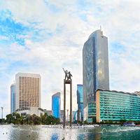 Selamat Datang Monument. Jakarta, Indonesia